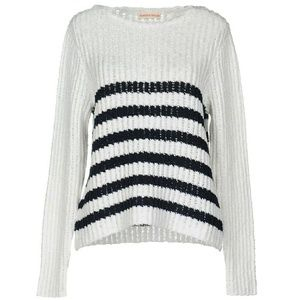 New Rebecca Taylor Chunky Knit White Sweater